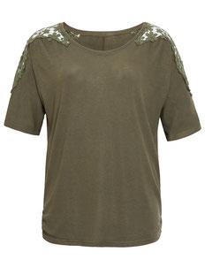 junge mode in großen größen münchen , khaki T-Shirt in Gr 52