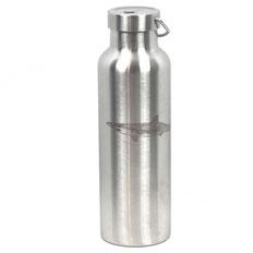 honourebel beanie mit logo schriftzug und rochen stick in grau bio baumwolle