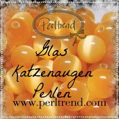 Perlen Katzenaugen Glas www.perltrend.com Luzern Schweiz Online Shop beads cateye pearls eye auge