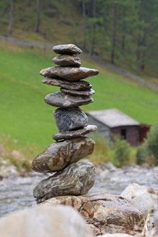 Zentriert sein, im Gleichgewicht, in seiner Mitte