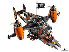 Die Besonderheit im Lego Paket 70605 ist das Kampfbereite Luftschiff.