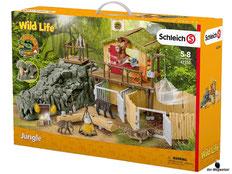 """Bei der Bestellung im Onlineshop der-Wegweiser erhalten Sie das Schleich Paket 42350 """"Dschungel Forschungsstation""""."""