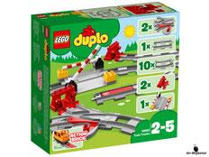 """Bei der Bestellung im Onlineshop der-Wegweiser erhalten Sie das Lego Duplo Paket 10882 """"Eisenbahn Schienen""""."""