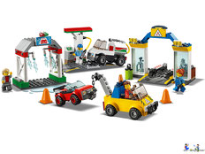 Im Paket Lego 60154 Busbahnhof sind 337 Einzelteile enthalten.