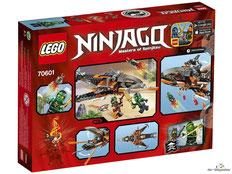 Im Paket Lego 70601 sind 221 Einzelteile enthalten.