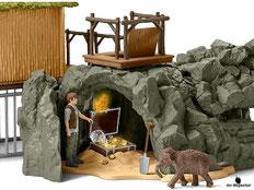 Die Besonderheit im Schleich Paket 42350 Dschungel Forschungsstation ist, der Grosser Croco Schädel mit geheimer Falltür und Geheimgängen.