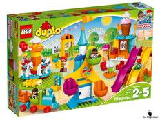 """Bei Bestellung im Onlineshop der-Wegweiser erhalten Sie das Lego Paket 10840 """"Grosser Jahrmarkt""""."""