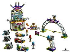 Im Paket Lego 41352 das grosse Rennen sind 648 Einzelteile enthalten.