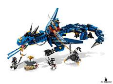 Im Paket Lego 70652 sind 493 Einzelteile enthalten.