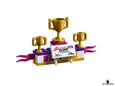 Die Besonderheit im Lego Paket 41352 das grosse Rennen sind die Pokale, die gewonnen werden können.