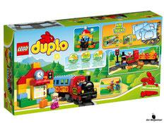 """Bei der Bestellung im Onlineshop der-Wegweiser erhalten Sie das Lego Paket 10507 Duplo """"Eisenbahn Starter Set""""."""