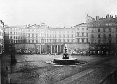 Quand la place des Jacobins s'appelait place de la Préfecture (vers 1850). Photo de Louis Frossard BML-P0546 S 95