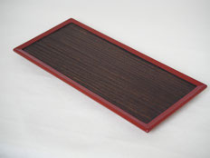 鎌倉彫 板皿|鎌倉漆工房いいざさ