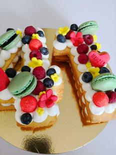 Number cake: gâteau en forme de chiffres