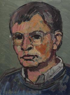 Selbstbildnis, 1994, Öl auf Hartfaser, 32 x 24 cm