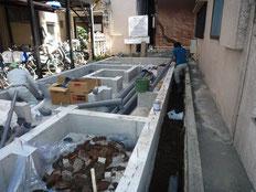 台東区木造3階建て耐火建築物 屋外給排水工事画像3