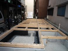 台東区 木造3階建て耐火建築物 土台引き画像5