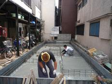 台東区 木造3階建て耐火建築物 基礎工事画像5