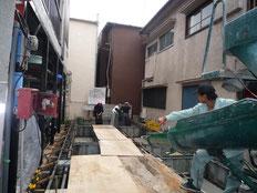台東区 木造3階建て耐火建築物 基礎工事画像7