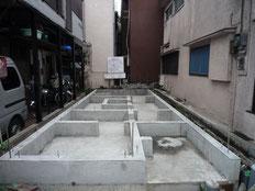 台東区 木造3階建て耐火建築物 基礎工事画像9