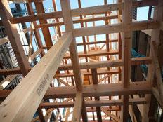 無垢の木でつくる 台東区 木造3階建て耐火建築物 上棟画像3