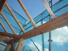 無垢の木でつくる 台東区 木造3階建て耐火建築物 屋根垂木工事画像3