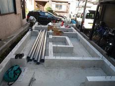台東区木造3階建て耐火建築物 屋外給排水工事画像1