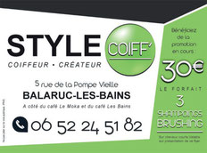 style coiff Coiffure  Balaruc les bains