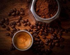 Crema eines Kaffees von oben