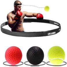 BOXING REFLEX SPEED BALL 3 BALLS, with head attachment