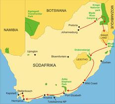 Rundreise Südafrika von Johannesburg bis Kapstadt