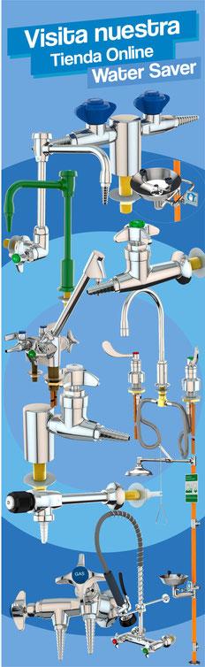water saver, llaves para laboratorio, muebles para laboratorio, regaderas de emergencia, llaves para laboratorio en querétaro, llaves de gas para laboratorio, llaves de agua para laboratorio