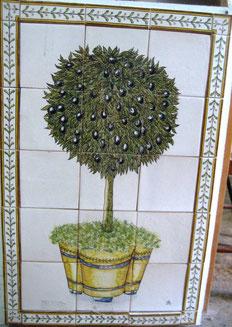 """Olivenbaum im Topf"" Art.-Nr.: PN-122, Größe: 79x51cm"