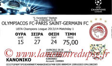 Ticket  Olympiacos-PSG  2013-14