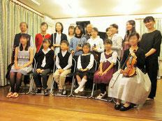 ヴァイオリンやギターで参加の方も
