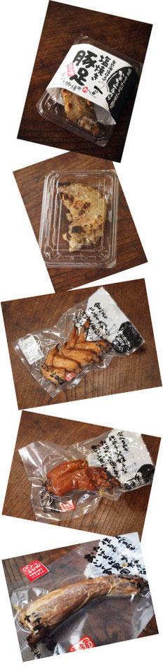 「塩焼き豚足」をはじめとする たけちゃん農園の人気商品です。