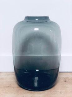 vase noir, vase noir translucide, webshop déco, site déco belgique, zwarte vaas glas