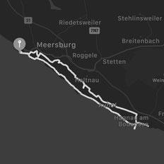 Der Höhenweg erstreckt sich von Meersburg, über Stetten nach Hagnau und führt auf dem Rückweg am Bodenseeufer entlang.
