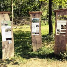 Der Biberpfad in Pfyn in der Ostschweiz ist mit erklaerenden Schildern ausgestattet. Hier koennen Groß und Klein etwas über den Biber lernen. Zu finden in der Bodenseeregion Ostschweiz.