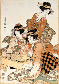 Joueuses de go, source Wikipedia