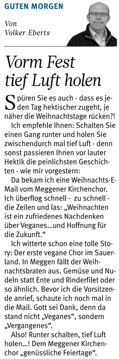 Westfalenpost, 18.12.2019