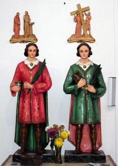 Chiesa dei SS. Cosma e Damiano: Santi omonimi