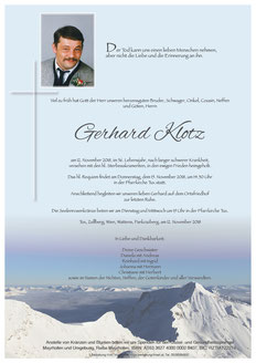 Gerhard Klotz + 12.11.2018