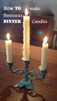 How to make beeswax dinner candles