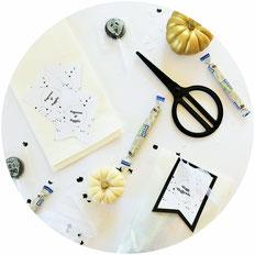 Bild: Süßes oder Saures - Mit dieser DIY Idee Halloween Süßigkeiten einfach in eine Tüte verpacken und mit der Freebie Bastelvorlage für Geschenkanhänger dekorieren // Tutorial & Vorlage von Partystories.de // #Halloween #halloweendiy #Freebie #diydeko