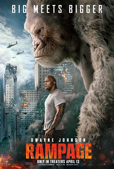 Rampage Big Meets Bigger Poster Dwayne Johnson Gorilla Action