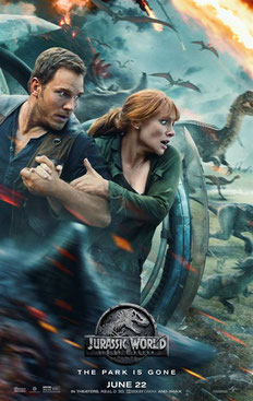 Jurassic World das gefallene Königreich Poster Christ Pratt Bryce Dallas Howard