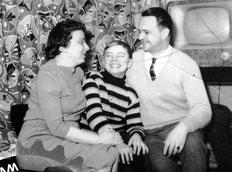 Ruth, Falk und Hans Schkade Sylvester 1961