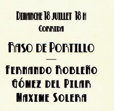 Toros de Raso de Portillo pour Fernando Robleño, Gomez del Pilar, Maxime Solera