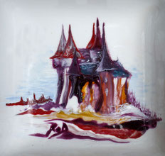 Technique couleur à peindre sur lave émaillée